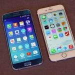 So sánh kích thước của iPhone 6 và Galaxy S6