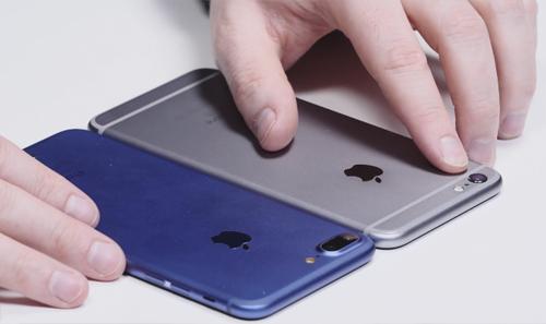Và khi được mang ra so sánh với iPhone 6s Plus.