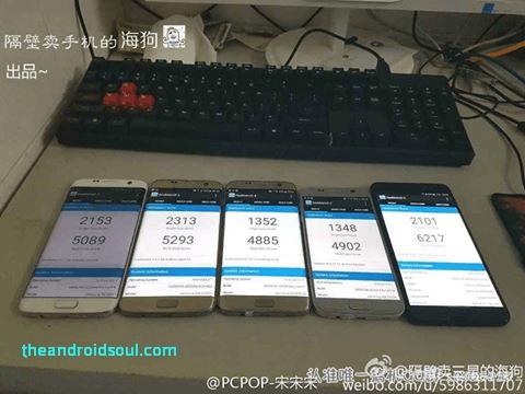 Khi mang ra so sánh với những sản phẩm khác thì Galaxy Note 7 thể hiện hiệu năng chất lượng.
