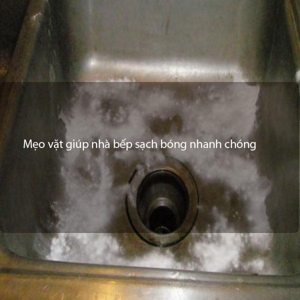 Mẹo vặt giúp nhà bếp sạch bóng nhanh chóng
